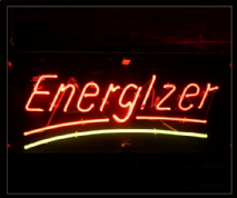 Energizer Neon Sign